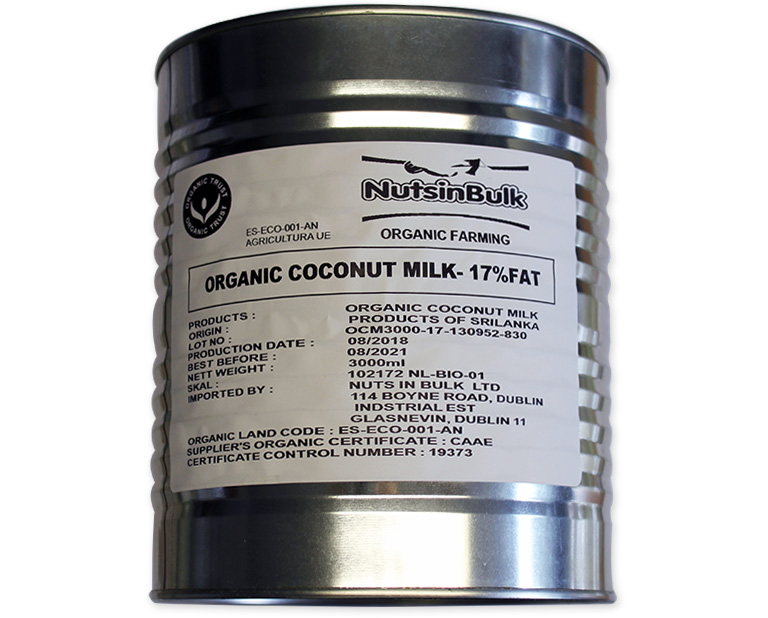 Organic Coconut Milk - 17% FAT