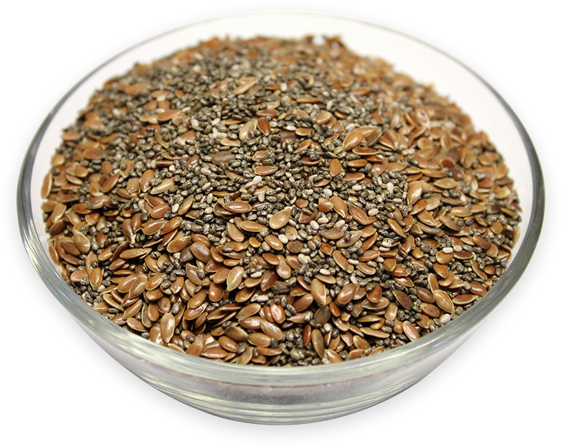 Mixed Chia & Flaxseeds Brown